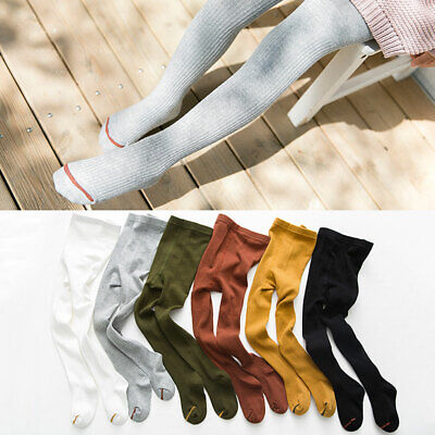 Kids  Girl  Winter Autumn Knit Sweater Footed Tights Stretch Stockings Pantyhose