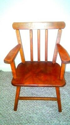 Antique Young Child's Toddler Wooden Chair, Sturdy Design, 3 ft tall, EX COND!