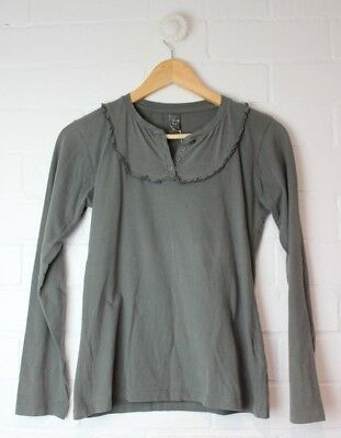 Girls ZARA KIDS Grey Long Sleeved T-Shirt 100% Cotton Size 13-14 Years