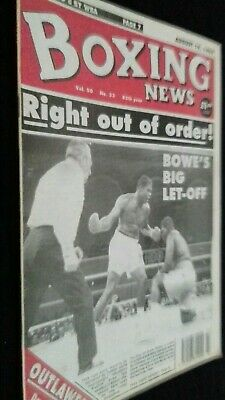 Aug 19Th 1994 Boxing News Riddick Bowe-Buster Mathis/del Bryan Profile