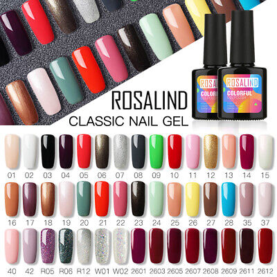 ROSALIND 10ML Nail Art Colorful UV Gel Nail Polish Semi Permanent Pure Varnish