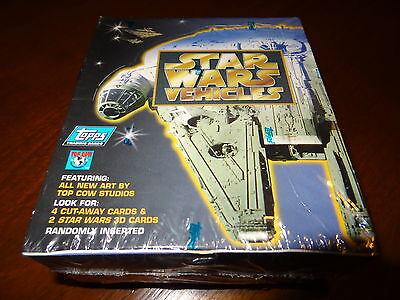 ✦ Topps Star Wars Vehicles 1997 Factory Sealed Box All New Art 36 packs  ✦