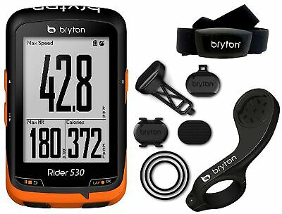 Bryton Rider 530T GPS and Heart Rate Monitor-Black