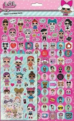 Official L.O.l. Surprise Character 150PC Reusable Stickers Mega Pack NEW