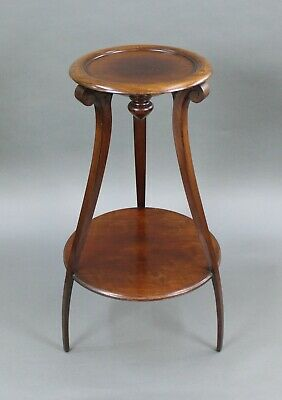Early 19th c. Mahogany Two Tier Pedestal Stand