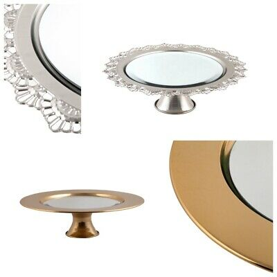 DIPAMKAR® Electroplated Mirror Cake Stand Plate Wedding Display Tableware