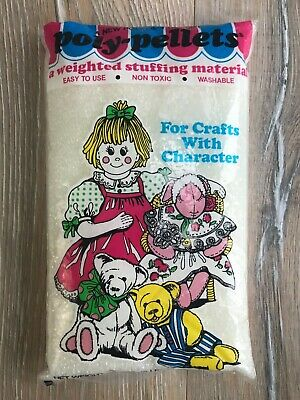 Vintage Polly Pellets Weighted Stuffing Material Crafts 2 lbs 32 ops 906g Teddy