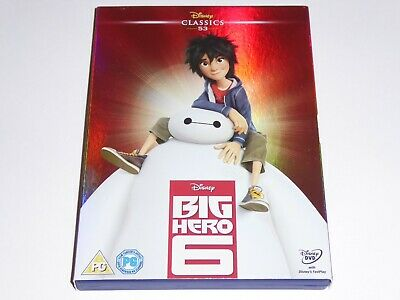 Big Hero Six (2015) - Disney Classic -GENUINE UK DVD + O-Ring Sleeve Slip Cover