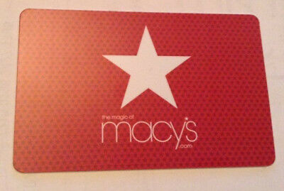 macy's COLLECTIBLE Gift Card New No Value RECHARGEABLE !