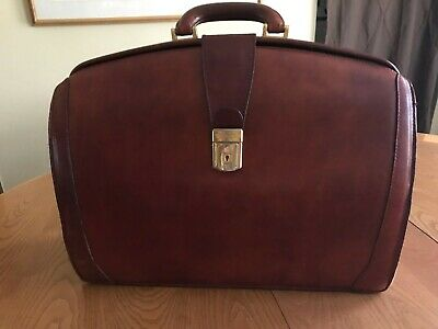 55e51f552e3c Vintage BOSCA Leather Lawyer Doctor Attache Briefcase Rich Brown Color Mens  Bag.