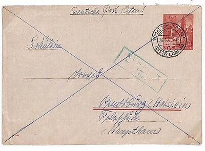 C154 1943 POLAND GENERAL GOVERNMENT WW2 German Occupation Postal Stationery Env