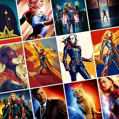 CAPTAIN MARVEL Movie PHOTO Print POSTER Brie Larson Avengers Endgame Film Art