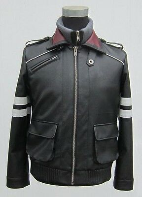 Prototype PS3 Game Alex Mercer Jacket Embroidered Leather Coat Cosplay