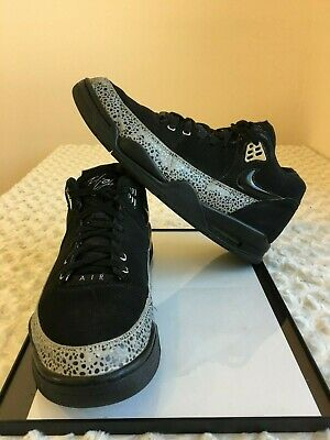 super popular bb59f a3b9e NIKE AIR Flight Squad Men Shoes S 11 Black and Gray Lace Up Basketball  Sports