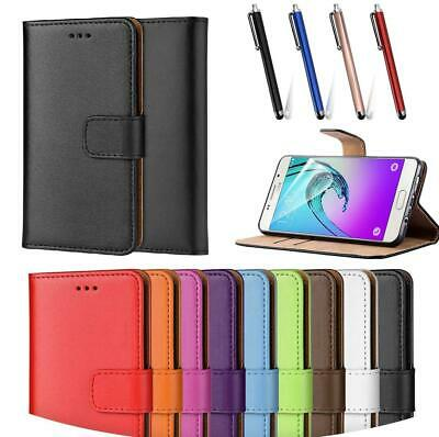 For Samsung A10 A40 S9 A50 Case Premium Leather Wallet Flip Phone Book Cover