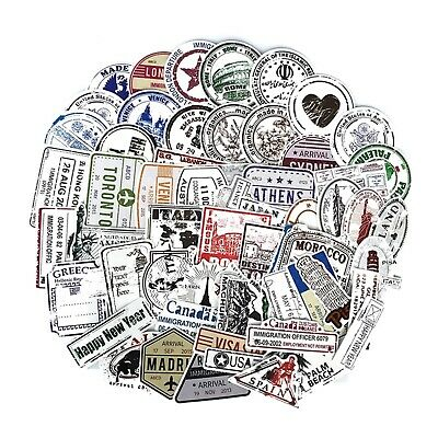 Mixed Travel Stickers 10 pcs Retro Luggage Boarding Pass Suitcase Hotel Holiday