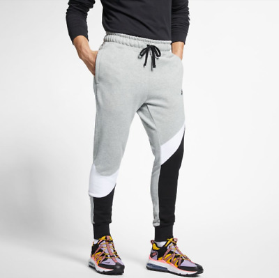 d20e6e084f New Men's Nike Sportswear Swoosh Fleece Pants (BQ6467-063) Grey Heather /  Black