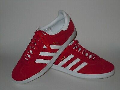 best loved 5ede0 03ef0 Adidas GAZELLE RedWhite Suede Lace Up Low Top Shoes Mens Size 11