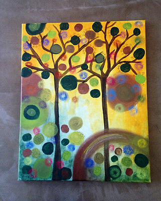 Original Modern Abstract Acrylic Painting Contemporary Art Decor  Canvas Signed
