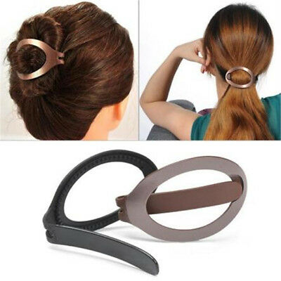 Women Pretty Hair Clip Bun Maker Barrette Styling Tool Hair Accessory 8C