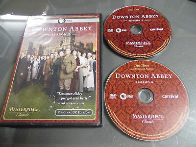 Downton Abbey: Season 2 (DVD, 2012, 2-Disc Set)NO DISC ONE 1 !! 2 & 3 ONLY!!!!
