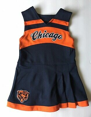 reputable site 9dab5 b01cc CHICAGO BEARS ONE Piece Cheerleader Outfit Size 4T Toddler Girl Blue Orange