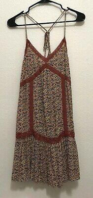 7e9802d743226 American Eagle Outfitters. Women Spaghetti Strap Floral Baby Doll Tank Top