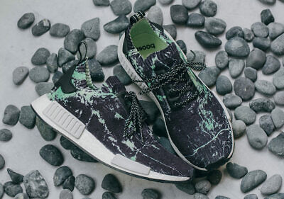 533e20ec6 Adidas NMD R1 Primeknit in Green Marble Black White Aero Green BB7996 sz 10
