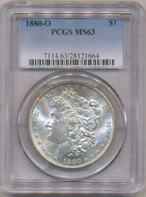 1880-O Morgan PCGS MS-63 Uncirculated Silver Dollar Gold Toned New Orleans Mint