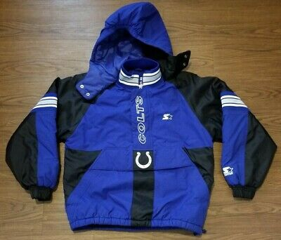 6c85881c VINTAGE STARTER PRO Line Indianapolis Colts Pullover Puffer Jacket YOUTH  Large L