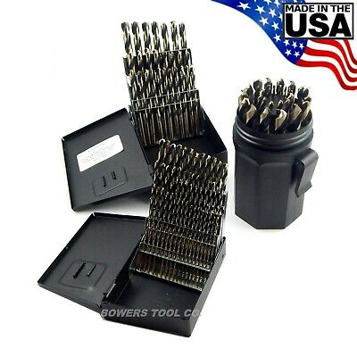 "Norseman 115pc HI-MOLY M7 Drill Bit Set Number Letter 1/16"" to 1/2"" USA 3 Index"