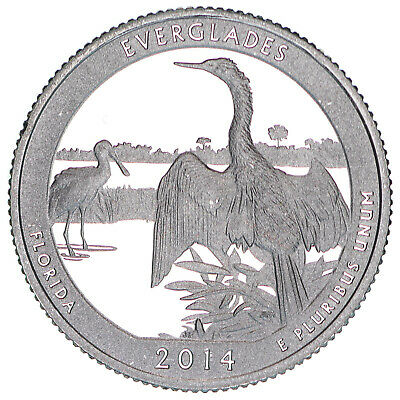 2014 S Parks Quarter ATB Everglades National Park Gem Proof DCam CN-Clad Coin