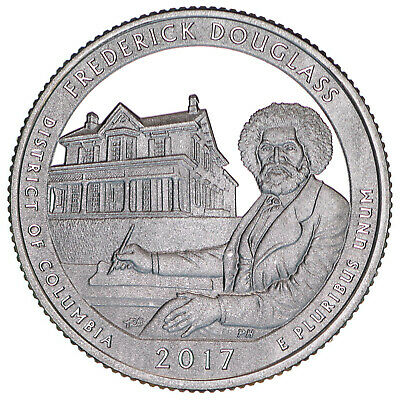2017 S Frederick Douglass National Park Quarter ATB Gem Proof DCam CN-Clad Coin