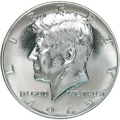 1965 SMS Kennedy Half Dollar Gem BU 40% Silver Special Mint Set Coin