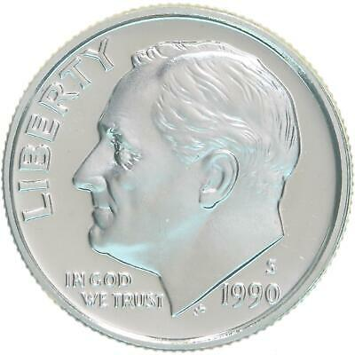 1990 S Roosevelt Dime Gem Deep Cameo CN-Clad Proof US Coin