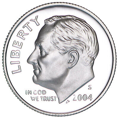 2004 S Roosevelt Dime Gem Deep Cameo CN-Clad Proof US Coin