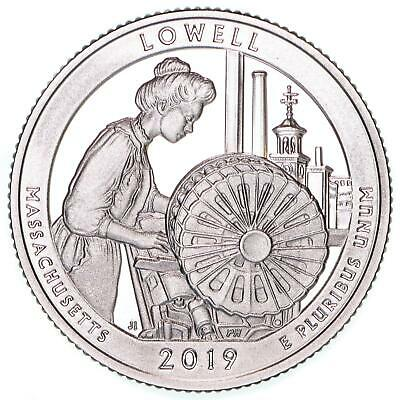 2019 S Lowell National Historical Park Quarter ATB Gem Proof DCam CN-Clad Coin