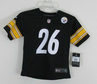 46554861877d YOUTH LE VEON BELL Pittsburgh Steelers Nike Black Color Rush Game ...
