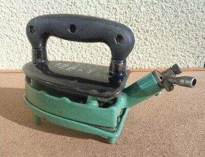 Vintage Gas Flat Iron And Stand