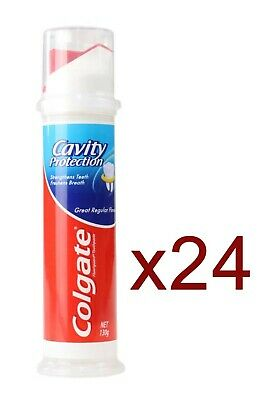 24 x Colgate 130g TOOTHPASTE PUMP CAVITY PROTECTION REGULAR FLAVOUR - NEW