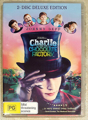 Charlie and the Chocolate Factory - 2 Disc Deluxe (Johnny Depp) DVD (Region 4)