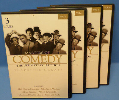 MASTERS OF COMEDY-THE ULTIMATE COLLECTION.( 10 movies on 4-Disc DVD Set)