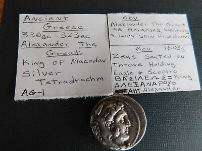 Alexander the Great III AR Tetradrachm - Super Nice Coin - 336-323 BC