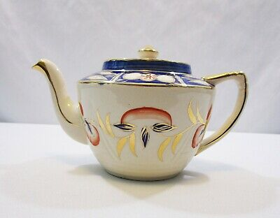 Vintage Teapot Arthur Wood and Sons Hand Painted GoId Gilded Imaric.1954 Carafe