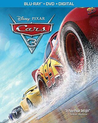 Cars 3 (Blu-ray, 2017, 2-Disc Set, Canadian)