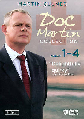 Doc Martin Collection: Series 1-4 (DVD, 2011, 9-Disc Set). Free Shipping