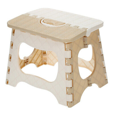 Plastic Folding Step Stool Portable Chair Small Bench For Children B6z8