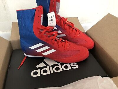uk availability 683d0 1f231 adidas box hog plus boxing shoes redblue