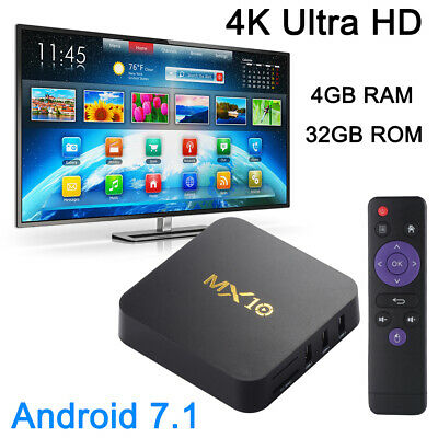 MX10 4GB/32GB Android 9.0 TV Box RK3328 Quad Core 4K WiFi Media Streaming AH479