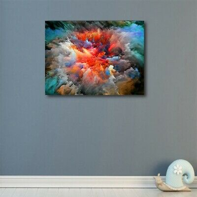 Abstract Space Nebula Canvas Wall Art Picture Oil Painting Modern Home Decor